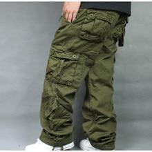 Брюки-карго размера плюс 5XL 6XL 7XL, мужские хлопковые брюки в стиле хип-хоп, мужские Мешковатые повседневные штаны, мужские камуфляжные штаны