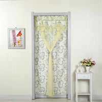 Pastoral Door Screen Fresh Romantic Anti Mosquito Curtains With Lace Mesh Net Mosquito Screen Fly Insect