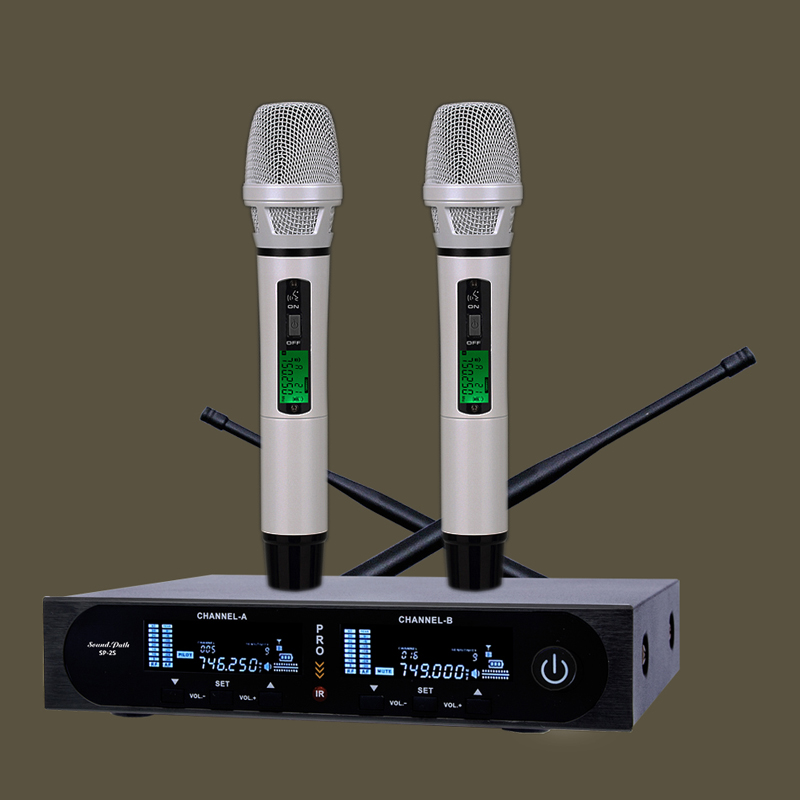 EPlangge true diversity UHF SP-2S wireless microphone system wireless microfone top quality 2 channel handheld mic SLX24 MICRO 4 x 100 channel ture true diversity whole metal cordless microphone system uhf wireless stage microphone system 4 mic