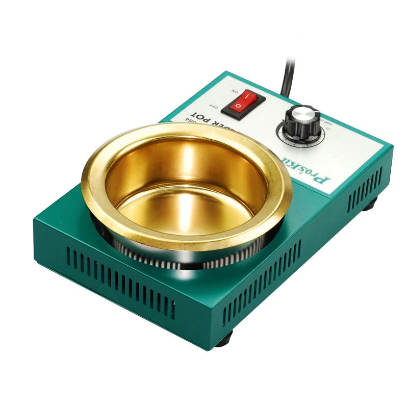 Pro'skit 220V 150/200/250/300W Solder Pot Tin Melting Furnace thermoregulation Soldering Desoldering Bath 40mm 450 Degree proskit soldering iron lead free solder pot soldering desoldering bath tin melting furnace wire tinning tool