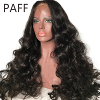 PAFF 150 Density Silk Top Lace Front Human Hair Wigs Brazilian Remy Hair Glueless Silk Base Wigs with baby hair Pre Plucked