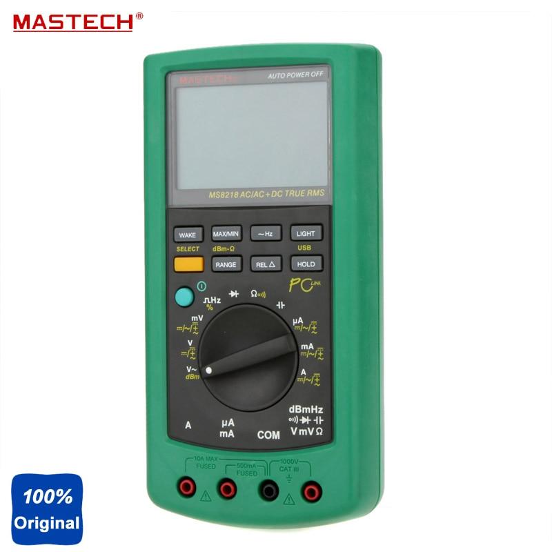 AutoRange High Precision True RMS PC USB Digital Multimeter Meter DMM 50000 Counts 5 1/2 Bit MASTECH MS8218 цена