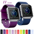 New  L Size Various Colors sport  Wrist Strap Soft Silicone Watch Band For Fitbit Blaze  Smart  Watch FBBZOSSB-2