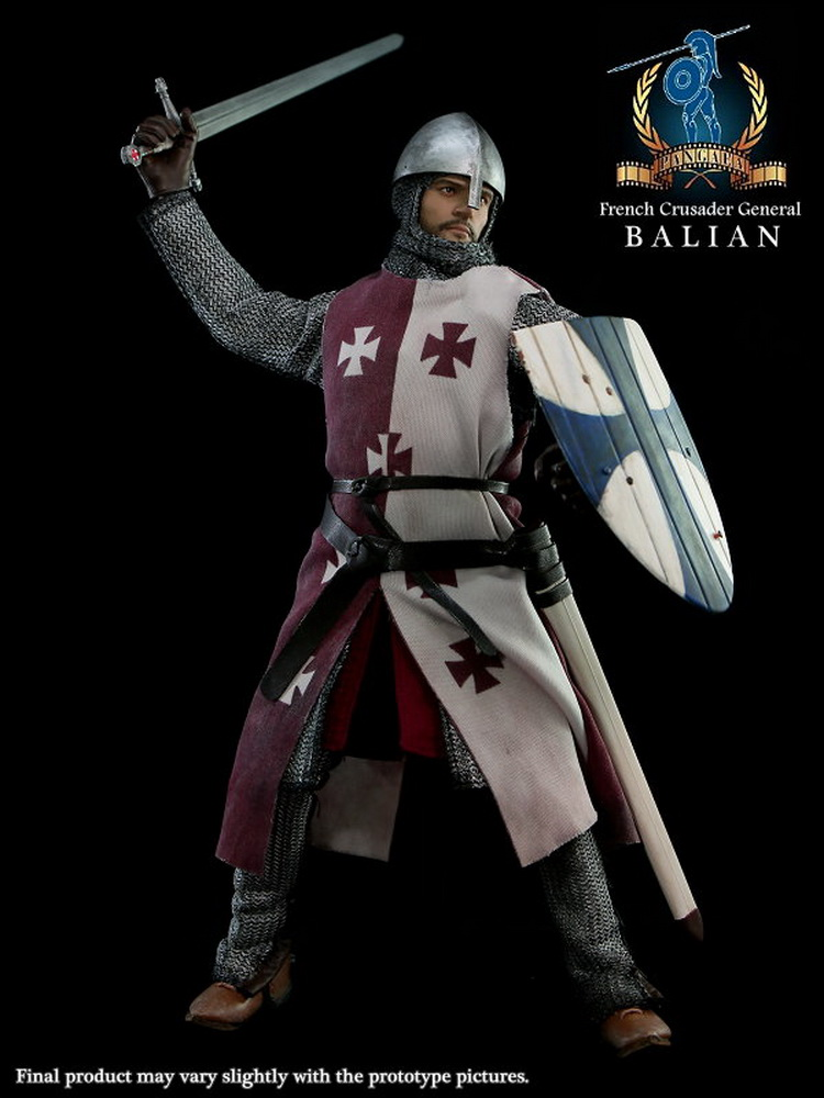 1/6 scale Super flexible figure French Crusader General Balian 12 action figure doll Collectible Model plastic toy did1 6 scale doll jean reno french soldiers special edition super flexible figure model toy wwi soldier finished product