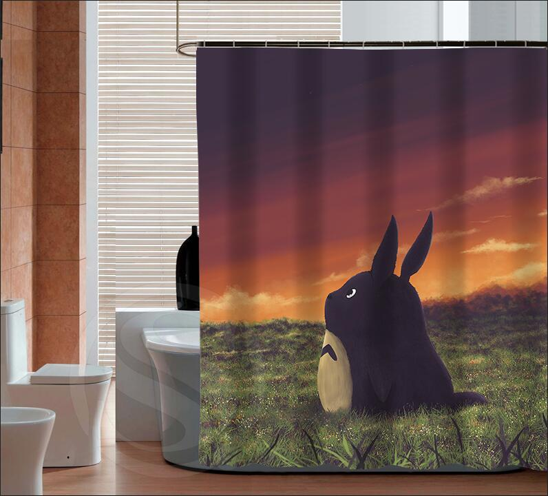New Arrive free shipping My neighbor totoro Personalized Custom Shower Curtain Bath Curtain Waterproof MORE SIZE SQ0420-ZHH