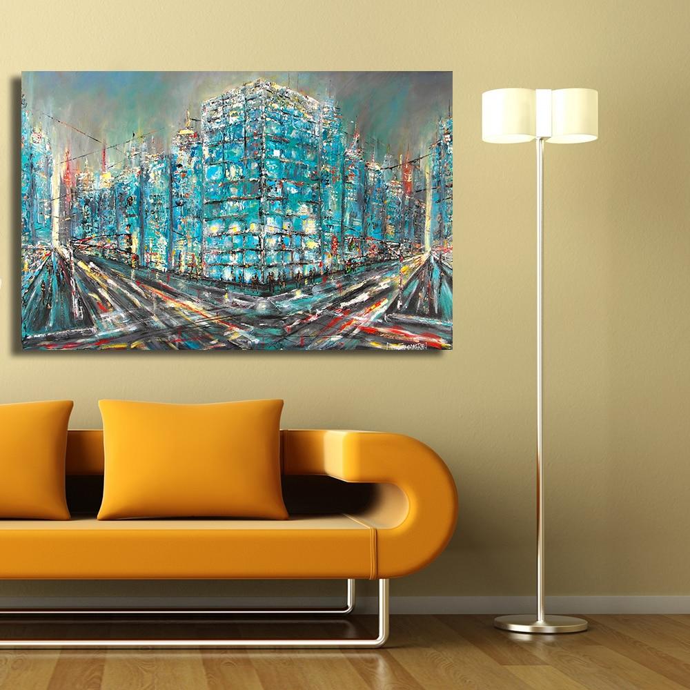 QKART Wall Decor Artwork Painting Pop Art City Life heavy traffic ...