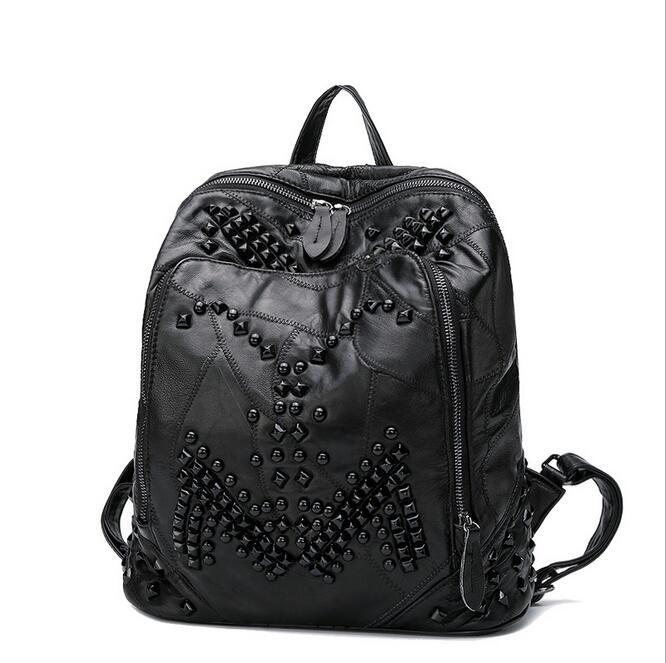 Newhotstacy sac 09200517 femmes nouvelle mode double sac à bandoulière étudiant livre sac à dos - 2
