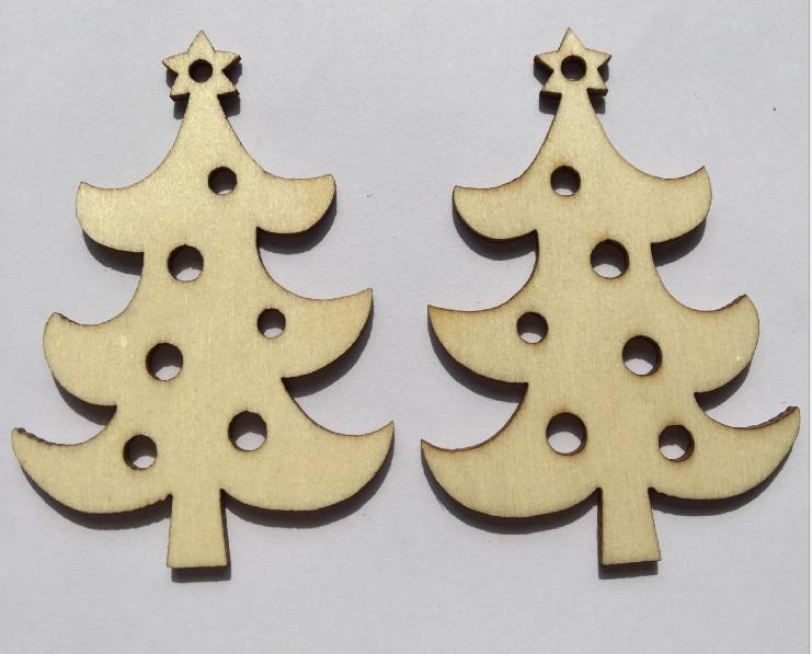 25pcs Logs, Christmas tree ornaments, Christmas decorations, wooden engraving decorations, Christmas tree decorations