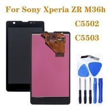 """4.55 """"AAA M36h C5502 C5503 monitor LCD de Ecrã para Sony Xperia ZR componente de peças de reparo do digitador da tela de toque do telefone"""