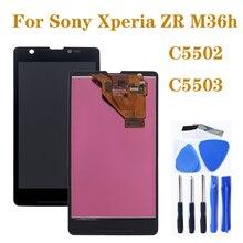 """Pantalla AAA de 4,55 """"para Sony Xperia ZR M36h C5502 C5503 LCD monitor pantalla táctil digitalizador piezas de reparación de componentes de teléfono"""