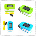 Color Blue and Green 2pcs OLED Fingertip Pulse Oximeter With Audio Alarm & Pulse Sound - Spo2 Monitor Finger Puls Oximeter