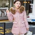New Winter Coat 2016 Women's Slim Windproof Coat Medium Length Fashionable Down Coat Women's Hooded Warm Jacket  A2403