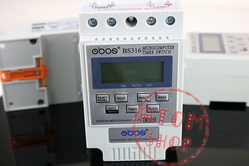 BS316 AC 220V 25A Din Rail LCD Digital Programmable Electronic Timer Switch Digital Timer Controller BS316 free shipping 1pcs kg316t ac 220v 25a din rail lcd digital programmable electronic timer switch digital timer controller bs316 page 7