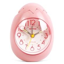 Cute Egg Shape Alarm Clock Ultra Silent Jumping Movement Clocks Tumbling Beep Alarm See Through Pack
