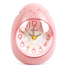 Cute Egg Shape Alarm Clock Ultra Silent Jumping Movement Clocks Tumbling Beep Alarm,See-Through Pack White/Pink/Gold Color