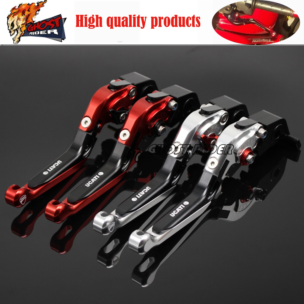 fits for DUCATI 999 749 S4R 848/EVO Motorcycle Accessories CNC Aluminum Folding Extendable Brake Clutch Levers for ducati 848 evo 749 999 1098 1198 1199 899 panigale red motorcycle adjustable folding extendable brake clutch levers