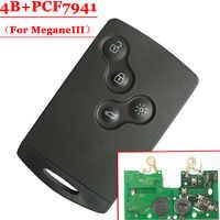 Livraison gratuite nouvelle carte 4 boutons (pas intelligente) avec PCF7941 pour Renault Megane III Laguna III (1 pièce)