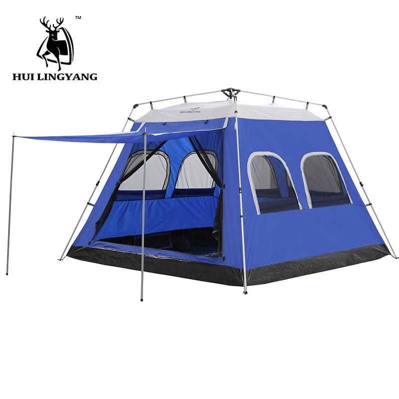 Tente de Camping 5-6-7-8 Personne Tente de Voiture Hydraulique automatique En Plein Air Grand Voyage Pique-Nique Tente 4 -saison tentes familiales imperméables