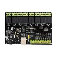 8-ウェイネットワークリレーモジュール ip/イーサネットアクセスコントローラスイッチボリューム転送 modbus tcp