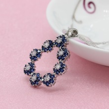 Exquisite Royal Blue Stone 925 Silver Jewelry Sets For Women, Wedding Earrings, Bracelet, Pendant, Necklace, Ring