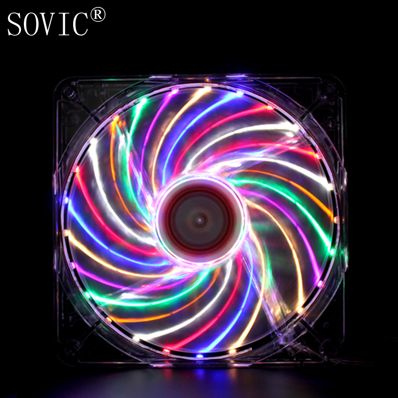 140mm DC 12V Miner Mining Case Cooling Fan 3PIN 4PIN 14CM fan desktop computer silent machine box fan LED light machine box small cigarette box vending machine bjy b50 with light box