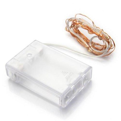 AA Battery Power 30 LED Blanco Cálido Luces de Hadas de la Secuencia de la Navidad