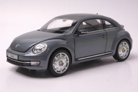 1 18 Diecast Model For Volkswagen VW Beetle Coupe Grey Mini Alloy Toy Car Collection Gifts