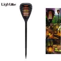 Wasserdicht IP65 LED Lampen Solar Flackern Flamme Taschenlampe Outdoor Landschaft für Garten Dekorative Rasen Tanzen Flamme-in Solarlampen aus Licht & Beleuchtung bei