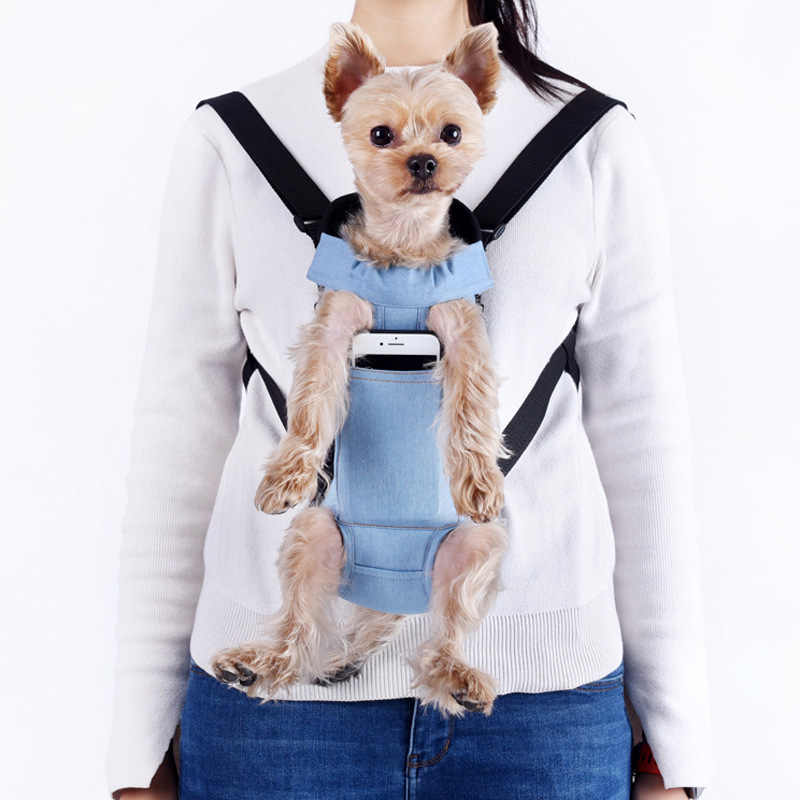 DENIM สุนัขสัตว์เลี้ยงกระเป๋าเป้สะพายหลัง Dog Cat กระเป๋าสำหรับสุนัขเล็ก Kedi Carring กระเป๋าสัตว์เลี้ยงผลิตภัณฑ์ Trasportino cane