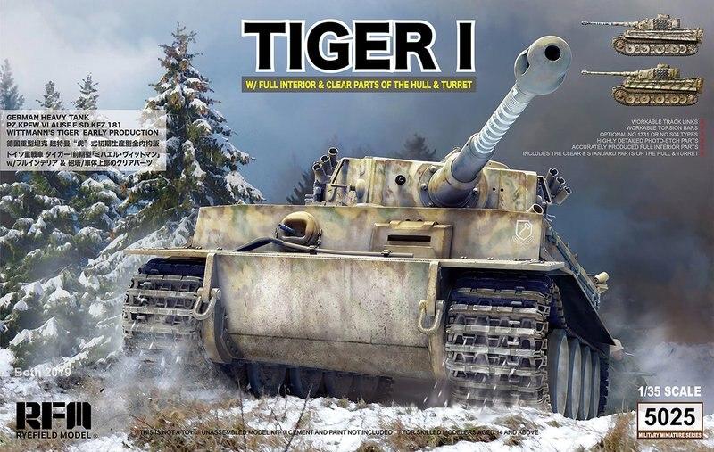 RMF 1//35 RM-5010 WWII German Tiger I Pz.Kpfw.VI Ausf.E Mid Prod w//Full interior