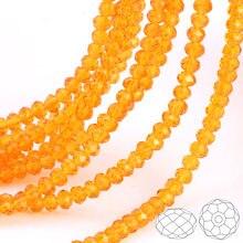 Olingart 3/4/6/8/10mm redonda contas de vidro rondelle áustria facetado cristal cor laranja solto grânulo 5040 diy jóias fazendo