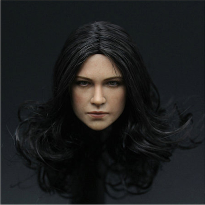 1/6 Michel Rodriguez Beauty Female Head Sculpt for 12 Action Figure Body doll Toys soldier head Soldier model toy 1 6 scale female head shape for 12 action figure doll accessories doll head carved not include body clothes and other km15