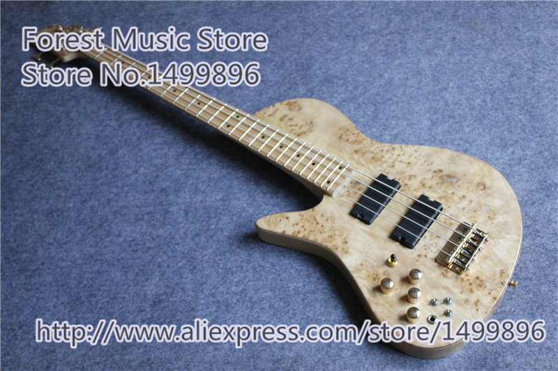 Hot Selling Gold Hardware Foderal 4 String Lefty Bass Guitar Nech Through China Ash Body For Selling