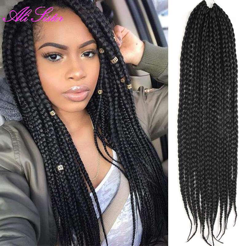 3x box braids hair crochet