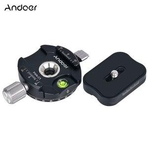 Image 2 - Andoer PAN C1 パノラマ雲台ボールヘッドのクイックリリースプレートとクランプアダプタアルカスイス標準として QR プレート
