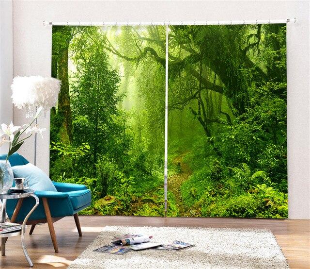 Jungle Tropicale Impression Numerique 3d Blackout Rideaux Pour Salon