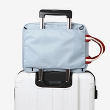 050 Mode Nylon Duffelväska Män Resor Väskor Foldbar Väska Stor Kapacitet Weekend Bag Packing Cubes Tote Bagageväska 27 * 36 * 14