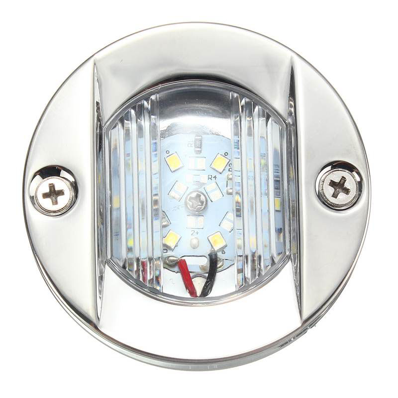 Image 3 - 12V Marine Boat LED Stern Light Transom Stainless Steel White Round Tail Light Waterproof-in Marine Hardware from Automobiles & Motorcycles