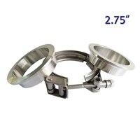 ZUCZUG 2.75 인치 금속 clench 너트 스테인레스 스틸 304 빠른 V 밴드 클램프 플랜