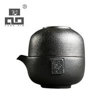 TANGPIN black crockery japanese teapot ceramic kettles tea cup pot set portable travel drinkware