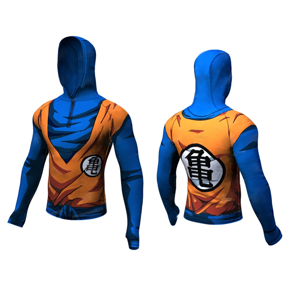 2017 Men 3D Printed Dragon Ball Goku Narut o Kakashi Akatsu Hoddie Top long sleeve hoodie Hooded coat
