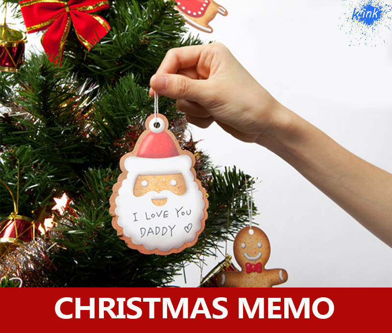 Do not eat it ! Christmas cookies memo as Christmas tree decor , novelty Christmas biscuits memo as childrens gift