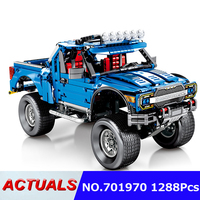 Technic Car blocks 1288pcs Compatible Legoing Technic series the F 150 Pickup model building blocks toys for children gift