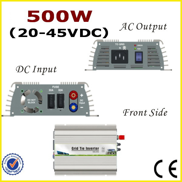 500W 20-45VDC Grid Tie Inverter with MPPT function for 500W-600W 24V 48Cells, 30V 60Cells or 36V 72Cells PV Modules solar power on grid tie mini 300w inverter with mppt funciton dc 10 8 30v input to ac output no extra shipping fee