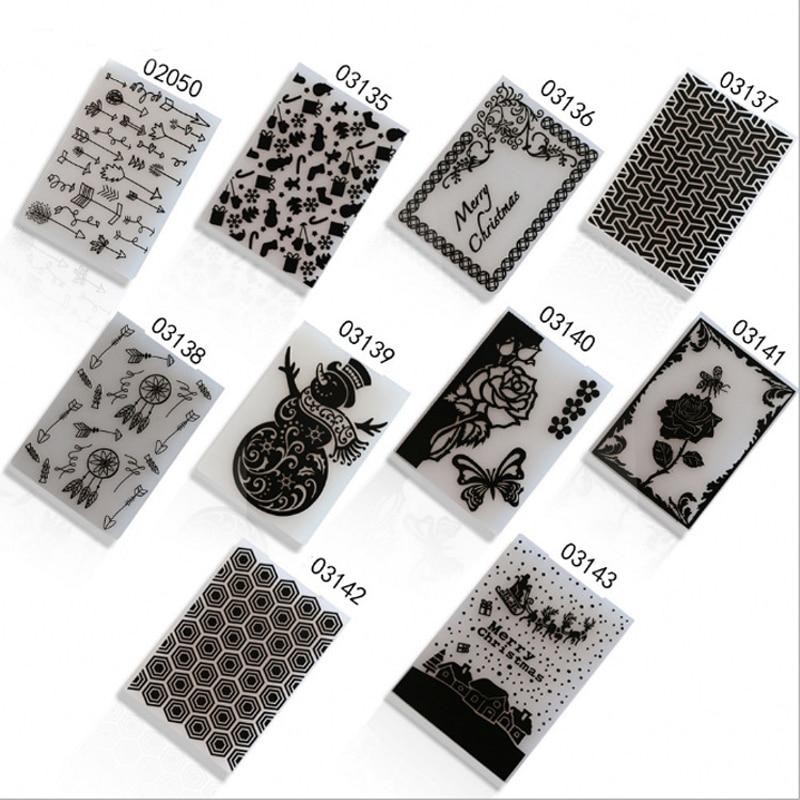 Plastic Embossing Folder Stencils DIY Template Paper Card Fondant Cake Scrapbooking Craft Card Making Wedding Decoration