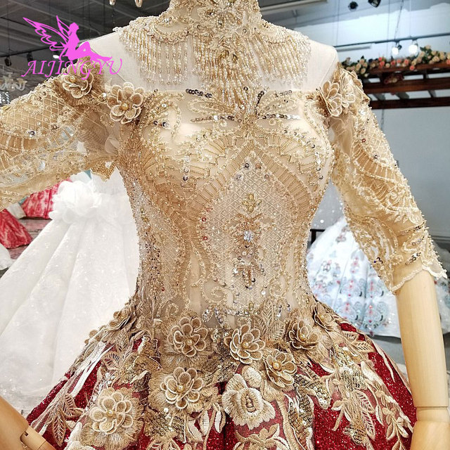 AIJINGYU חתונה שמלות לבנון שמלות סקסי פשוט סביר ליד לי זול בטורקיה חנות צבעים חתונה שמלה קצרה בתוספת גודל