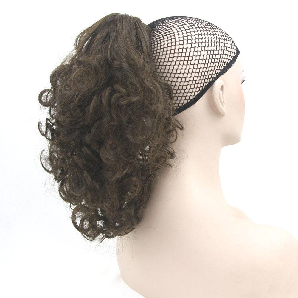 Soowee Short Curly Adjustable Drawstring Ponytail Wig Hair