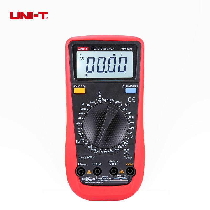 UNI-T UT890D Digital Multimeter True RMS AC/DC Voltage Current Resistance Tester Voltmeter Ammeter Multitester earphone qkz dm4 in ear earphones dynamic with mic microphone hybrid unit hifi earphone earbud headset fone de ouvido dj mp3