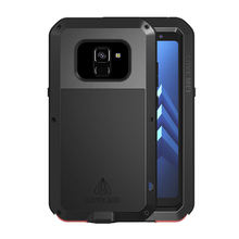 Metal Armor For Samsung A8 2018 Case Plus Shockproof Full Body Case sFor Samsung Galaxy A8 2018 Case With Glass Cover A 8 A8Plus стоимость