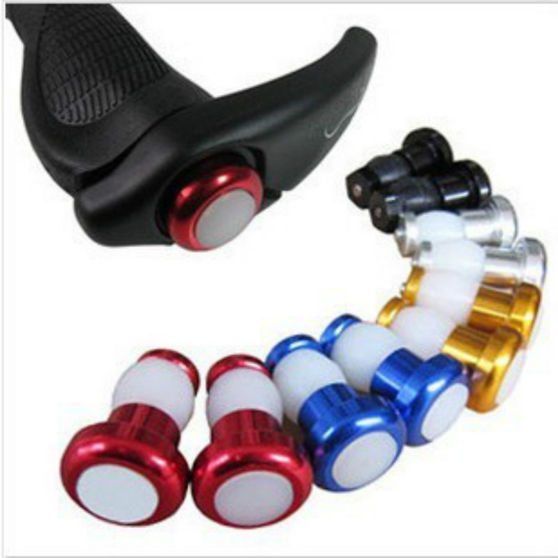 2/PC 1 Pair Aluminum Alloy Safety Cycling Bike Turn Signal Handle Bar End Plug LED Red Light Lamp 2019 Hot Sale Bike Accessories